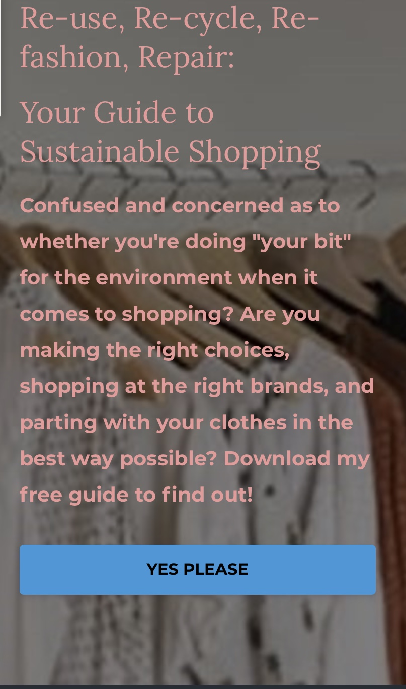Your Handy Guide To Sustainable Shopping!